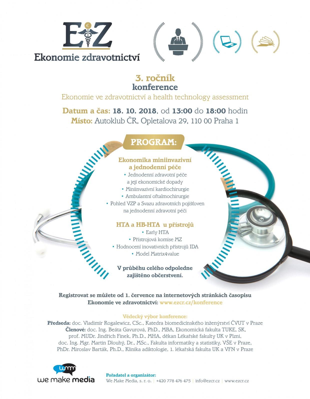 1. annonce programu konference Ekonomie zdravotnictví